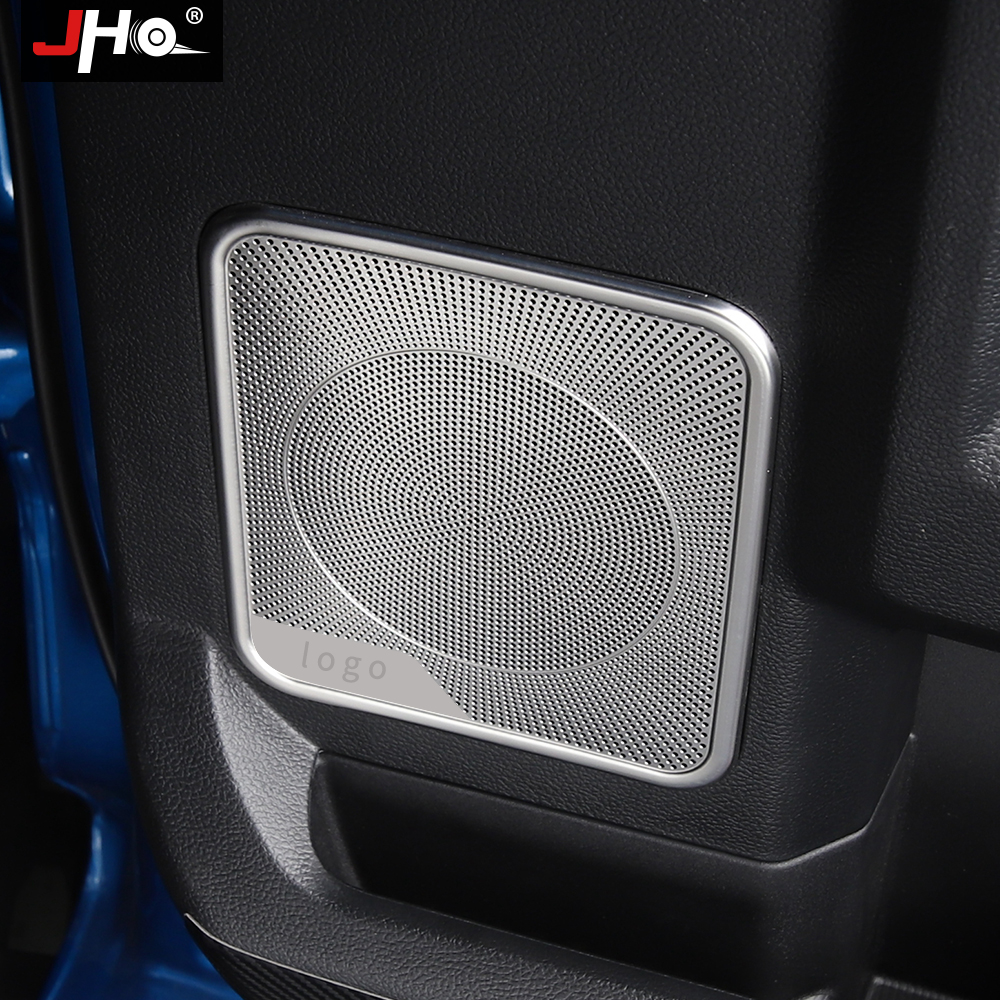 Stainless Steel Door Speaker Sound Cover Trim 4pcs For Ford F150 F-150 2015-2019