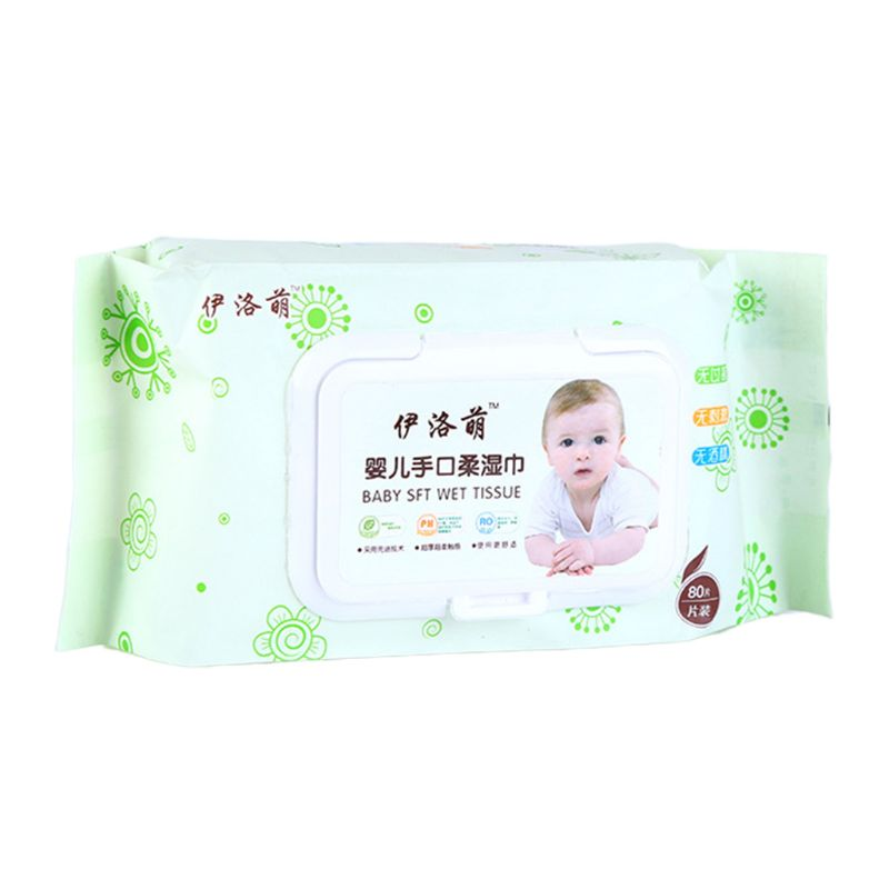 80 Sheets Cleaning Wipes Children Friendly Portable Hand Wipes Cleaning Supplies