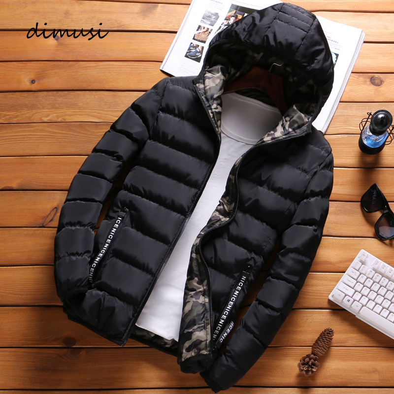 DIMUSI Winter Mens Jacket Fashion Men Cotton Thick Thermal Parkas Coats Casual Outwear Army Windbreaker Jackets Hoodies Clothing