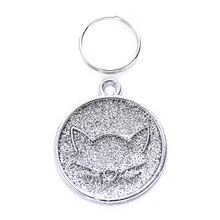 Zinc Alloy Pet ID Tag with Cat Face Identify Card Mini Dog Cat ID Tag Collar Pendant Personalized Pet Accessories(China)