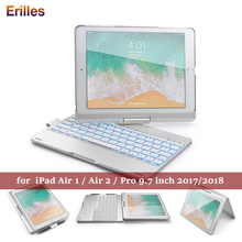 For iPad Air 1 2 9.7 Keyboard Case Rotation Backlit Bluetooth for Pro inch 2017 2018 Tablet