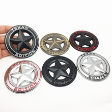 цена на 3D Metal Car Sticker Texas Edition Tail Emblem Badge Decals Car Tail Sticker for Jeep Grand Cherokee Wrangler Ford Car Styling