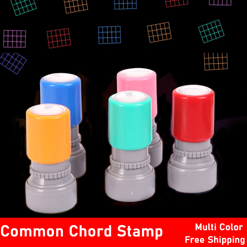 Guitar Ukulele Common Chord Stamp 6 String 3 Frets Rubber Stamps Guitarra Musical Instrument For Player Teachers/ Student