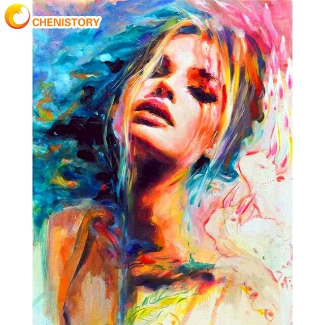 Chenistory 60x75 см Рамка diy живопись по номерам красочные