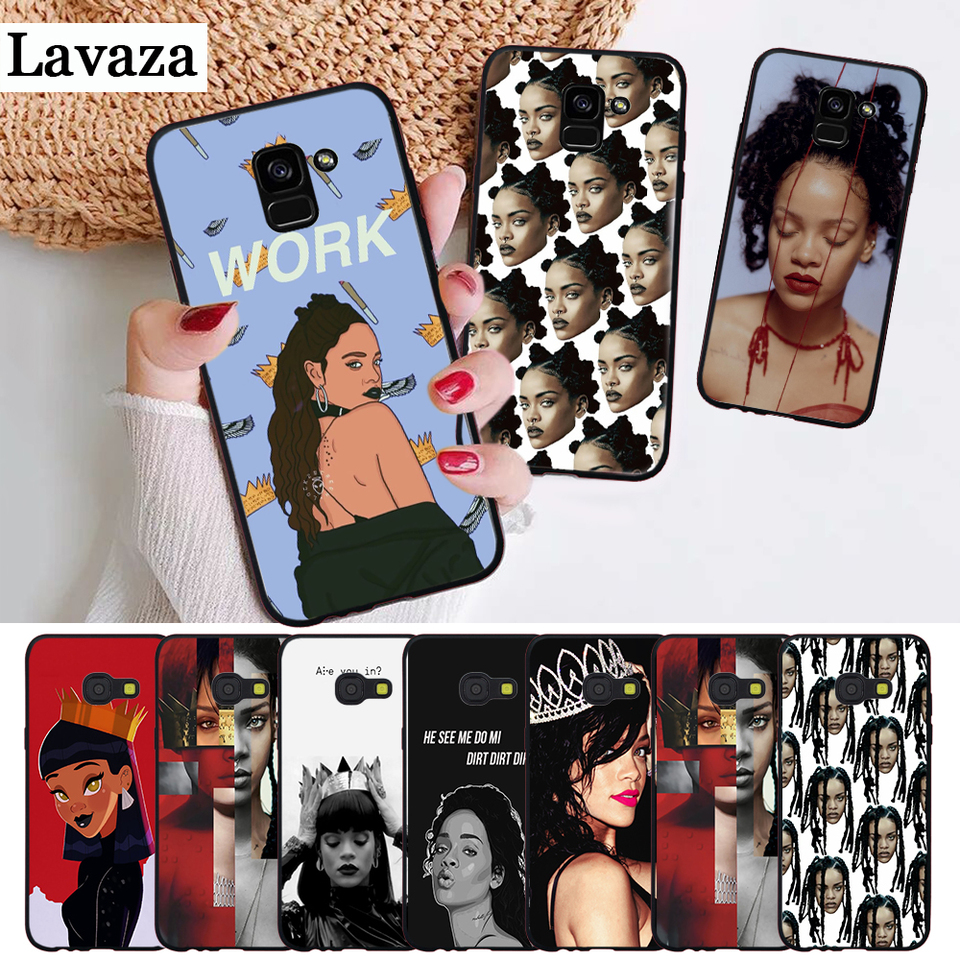 Rihanna Cute Wallpaper Pictures Silicone Case For Samsung J4 Core 2018 Plus J6 Prime J7 Duo J8 2018 Note 8 9 10 Phone Case Covers Aliexpress