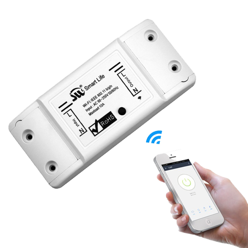 Tuya Wifi Switch DIY Wireless Remote Domotica Light Smart Home Automation Relay Module Controller Work With Alexa