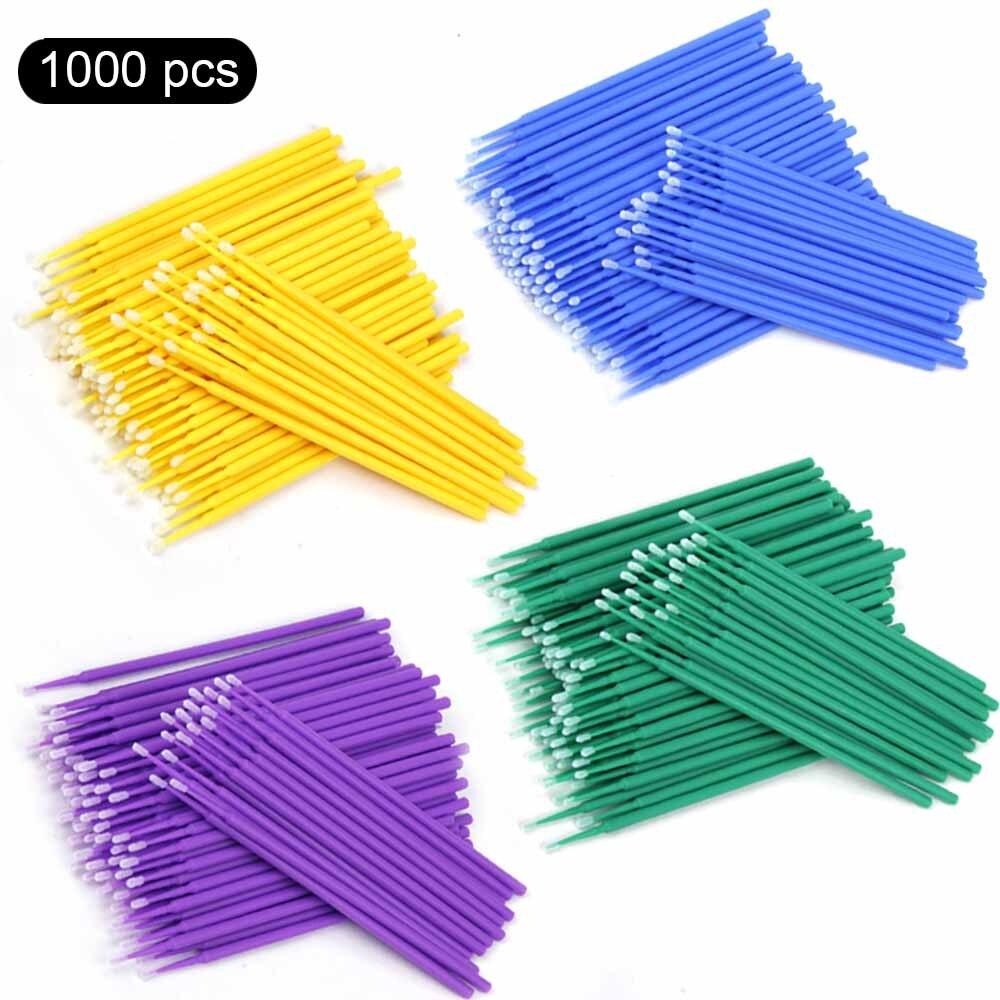 500/1000pcs/lot Disposable Micro Brushes Lash Cotton Swab Makeup Eyelashes Extension Individual Lashes Applicators Mascara Brush