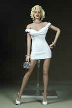 1:6 весы сексуальные женские девочек модная одежда для маленьких девочек, мини-юбка платье белый/черный/желтый/красного цвета для детей возр...