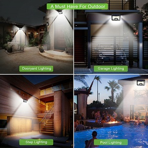 Image 5 - Lampe LED avec capteur de mouvement, à énergie solaire, étanchéité 128/268, éclairage de sécurité extérieur pour porche/jardin/rue/applique murale