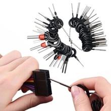자동차 터미널 제거 도구 와이어 플러그 커넥터 추출기 풀러 릴리스 핀 추출기 키트 자동차 플러그 수리 도구 액세서리