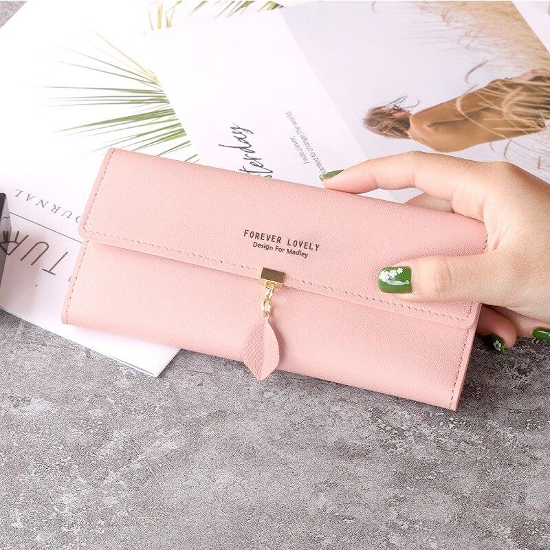 Portefeuille femmes téléphone portable sac marque concepteur femme en cuir PU longues dames porte-cartes fin sac à main