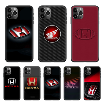 Honda Phone Case cover For Iphone 12 11 8 7 6 5 XR PLUS X XS PRO SE 2020 MAX Mini black hoesjes soft funda 3D bumper painting image