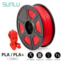 SUNLU 3D Printer Filament PLA/PLA Plus 1.75mm  High Quality PLA Filament Low Shrinkage Consumable For 3D Printer And 3D Pens 1KG geeetech 1kg 1 75mm pla filament vacuum packaging overseas warehouses a variety of colors for 3d printers