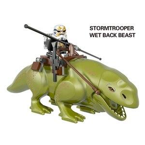 Совместимость Lepining Star Wars Rancor и Dewback The Force Awakens Sandtrooper Legacy строительные блоки игрушки для детей