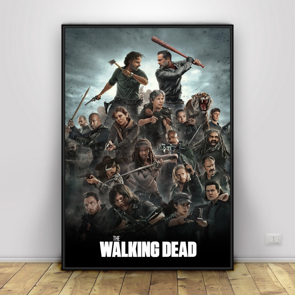 The Walking Dead The Comic Wall Art Paint Wall Decor Canvas Prints Canvas Art Poster Oil Paintings No Frame