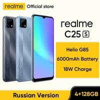 [World Premiere in Stock] realme C25s Russian Version Smartphone Heilo G85 Octa Core 48MP Camera 6000mAh Battery 4GB 128GB NFC 1
