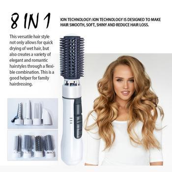 Professional Hair Iron Hair Straightener Brush Dryer Hot Heating Comb Straightening Iron Brush Styling Blower Dryer Volumizer
