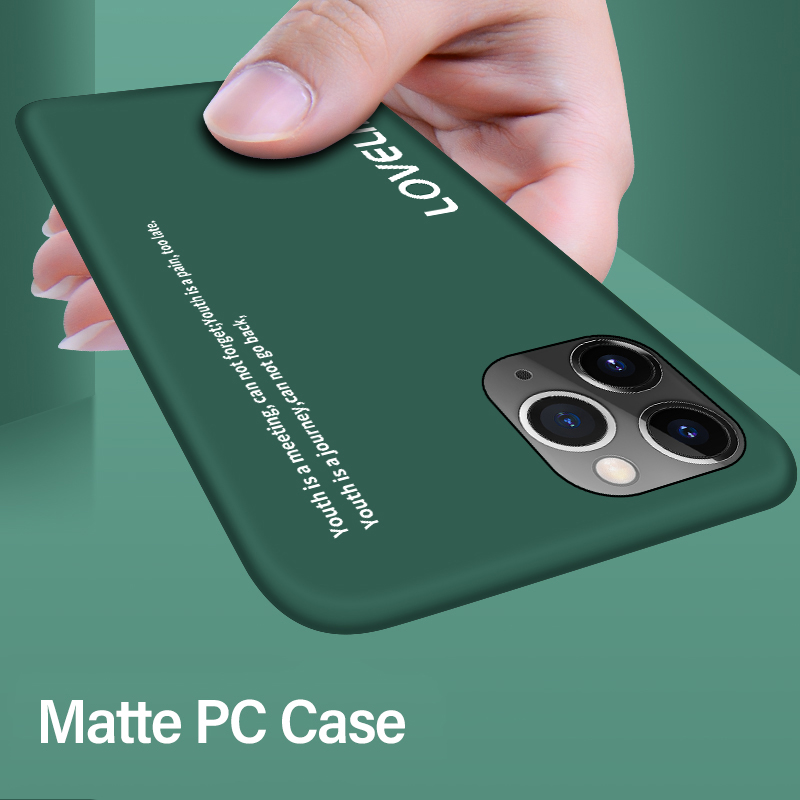 Ultra-thin Colorful Matte Hard PC Phone Case For IPhone 11 Pro Max XSmax XR XS X 8 7 6s 6 Plus Cute Shockproof Frosted Cover