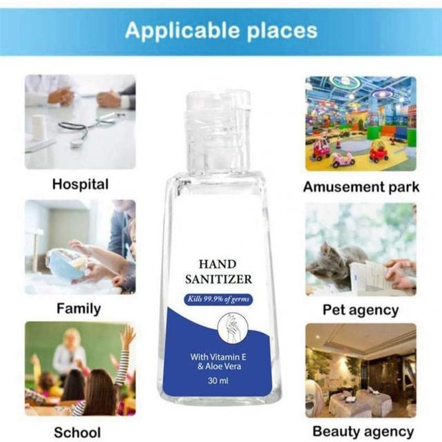 Hand Sanitizer Gel Hand Soap Gel Anti-Bacteria Portable Waterless 99% Disinfection Gel antibacterial hand gel Soothing Gel 30ml 3