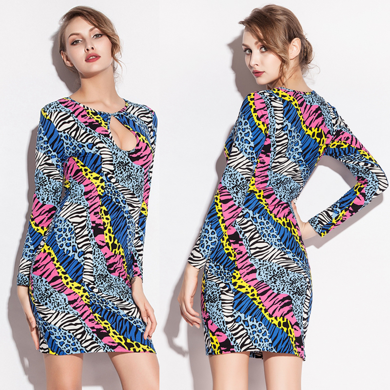 Top <font><b>Sexy</b></font> Zebra High Stretch Cotton Dress 2019 <font><b>Hot</b></font> <font><b>Girl</b></font> Chest Hollow Various Occasion Beach Cover Up Dress S.M.L.XL.<font><b>XXL</b></font> image