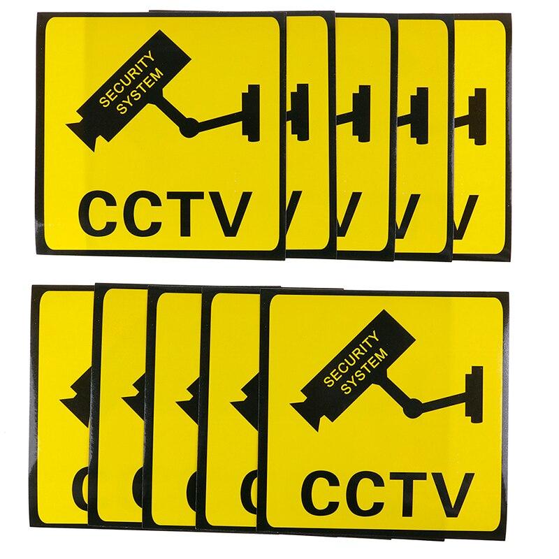 10 шт./лот предупреждающие наклейки предупреждающие знаки для мониторинга предупреждающие этикетки для безопасности наклейки для видеокам...