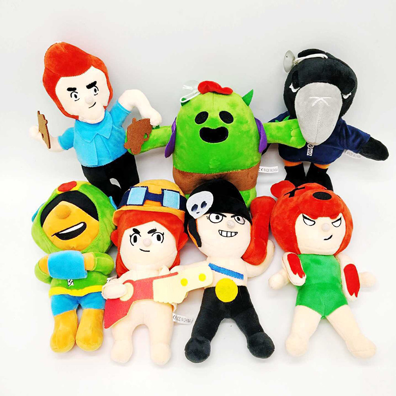 Brawl Games Cartoon Star Hero Figure Anime Model Spike Shelly Leon PRIMO MORTIS Doll Kawaii Cute Toy Gift For Boy Girl Kids