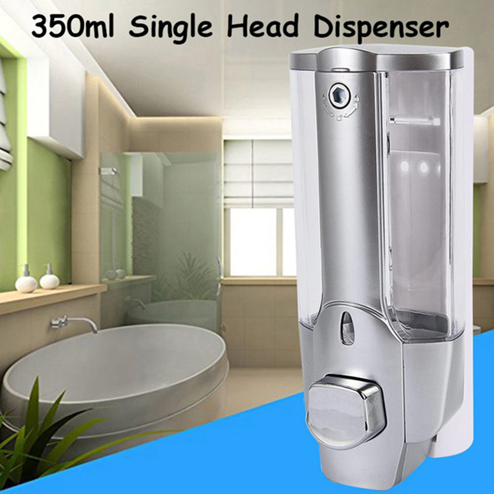 Liquid Soap Dispenser 350ML Single Head Wall Mount Shower Bath Washing Lotion Soap Shampoo Dispensers For Kitchen Bathroom