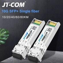 10G BIDI 10/20/40 KM Módulo SFP SM LC 1270/1330nm Gigabit de Modo Único Single transceptor de fibra Óptica Compatível com Switch Cisco