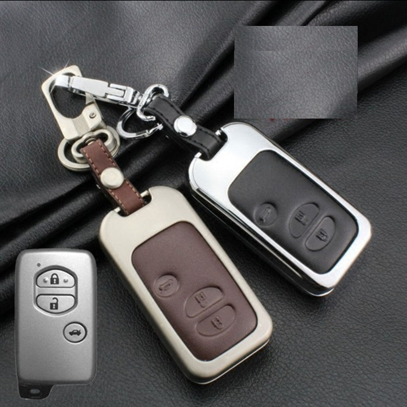 Leather Car Key Case Cover For Toyota Land Cruiser Prado 150 Camry Prius Crown For Subaru 2013 2014 Foreste Outback XV legacy