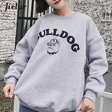 Jielur Winter New Harajuku Women Hoodies Thick Korean Style All-match Chicly Sudaderas Mujer 2019 Autumn Fashion Cartoon Casual