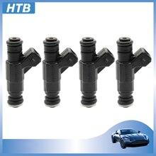 1/4 adet/takım yakıt enjektörü memesi 0280156061 06A906031BA VW Golf j-etta Beetle Audi TT Quattro Passat 2000-2006 4cyl 1.8L