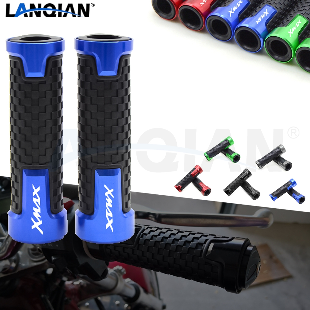For <font><b>Yamaha</b></font> <font><b>XMAX</b></font> <font><b>125</b></font> 250 300 400 7/8 22MM Motorcycle Handlebar Grips Hand Bar Grips <font><b>XMAX</b></font> <font><b>125</b></font> 250 300 400 All Year Accessories image