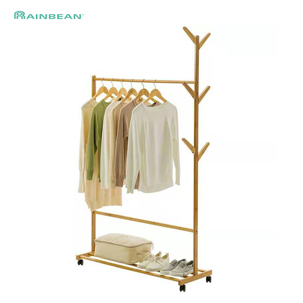 Floor Coat Rack Hat Clothes Rack Bedroom Furniture Clothes Hanger Simple Indoor Household Wind-Resistant Creative Can Be Moved