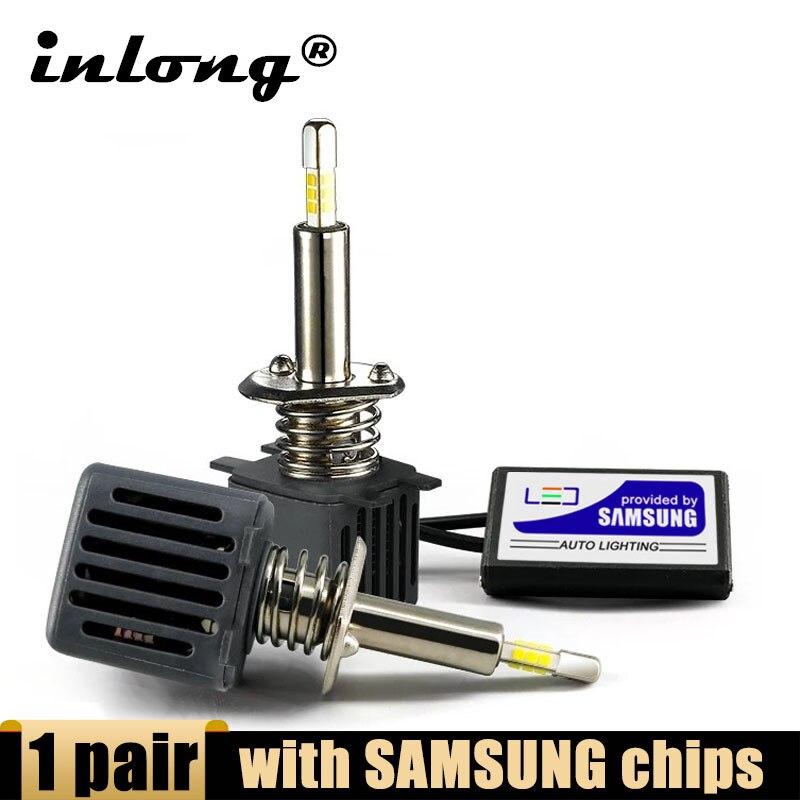 2 шт. с SAMSUNG CSP Mini H7 светодиодная лампа без ошибок H4 Led 15000LM 80 Вт H1 H8 H11 Led 9005 HB3 9006 HB4 Автомобильные фары 6500K противотуманные фары
