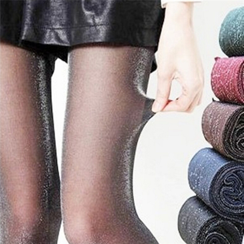 1PC Women Girls Silver Color Tights Female Shiny Pantyhose Fashion Lady Sexy Anti Hook Stockings Colorful Size: 150-175 CM