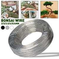 1 rollo de cables de bonsái de aluminio anodizado, herramienta de sujetador de alambre de entrenamiento para bonsái, herramienta de decoración de flores flexibles de aluminio con diseño de plantas