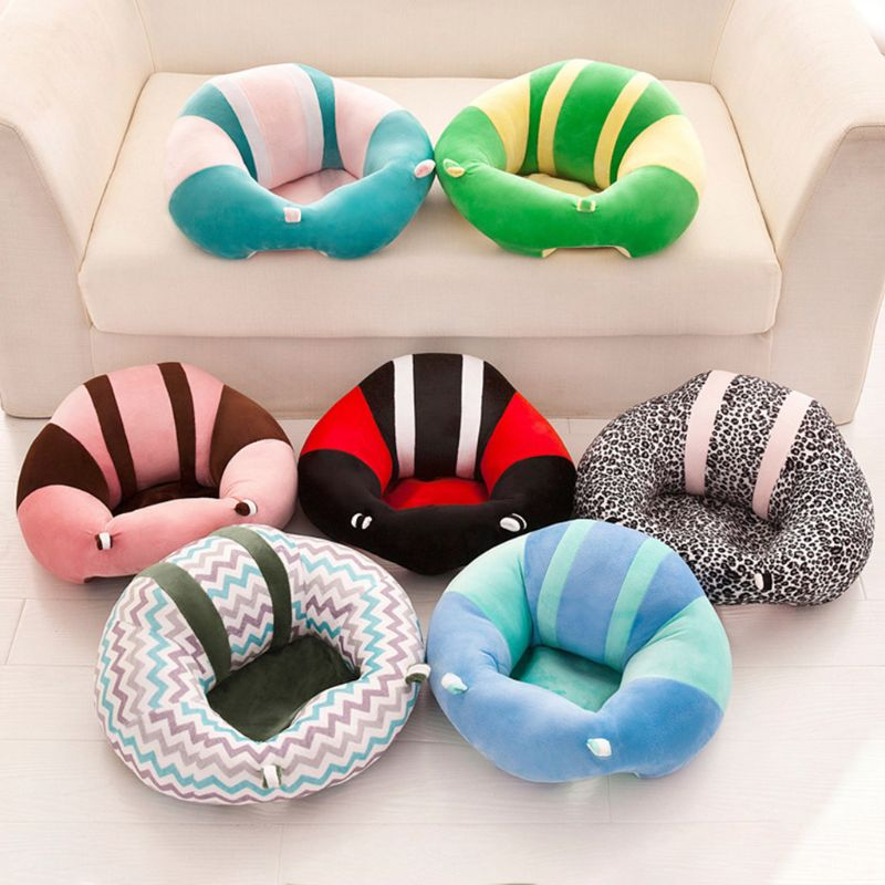 Baby Kids Support Seat Soft Plush Sit Up Cushion Learning To Sit Toy Sofa Chair 19QF