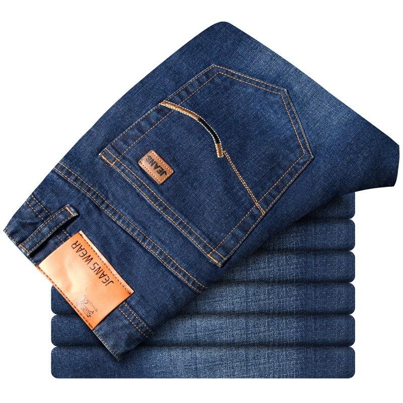 Men's Jeans 2019 Business Youth Trend Trousers Slim Fit Versitile Fashion Pencil Pants Large Size Men's Trousers