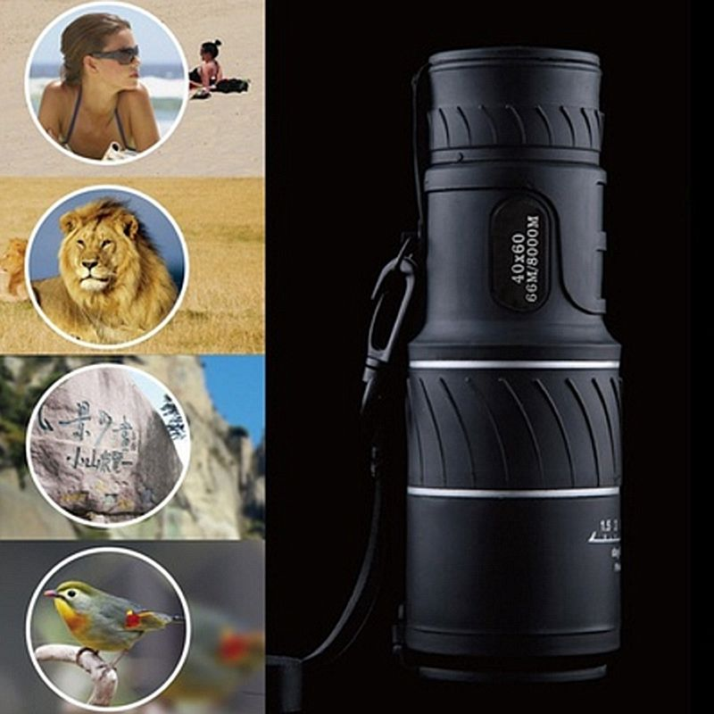 High Power 40X60 HD Monocular Telescope Shimmer lll Night Vision Outdoor Hiking Portable Telescope 1500M/9500M