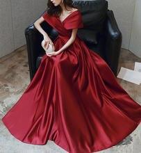 Рождественское платье женское Красное бордовое элегантное сексуальное