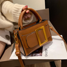 Fashion Big Buckle Women Handbags Designer Belt Shoulder Bags Luxury Pu Leather Crossbody Bag Vinatge Small Flap Lady Purse 2019 цена 2017