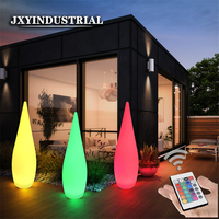 LED luminescent large water drop lamp colorful charging living room outdoor floor lamp celebrity hotel decorative lights