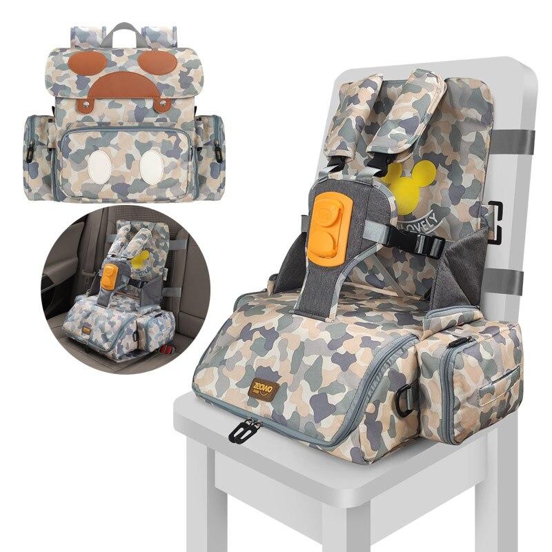 Многофункциональный водонепроницаемый детский ремень безопасности 3 в 1, детское сиденье для кормления, 5-точечный ремень безопасности, портативный ремень безопасности, обеденный высокий стул 4