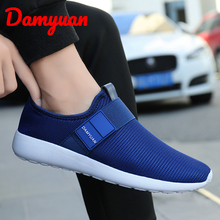 Damyuan 2019 New Mens fashionable comfortable breathable shoes, shock absorber size 47 Mesh (Air mesh)  Flywire