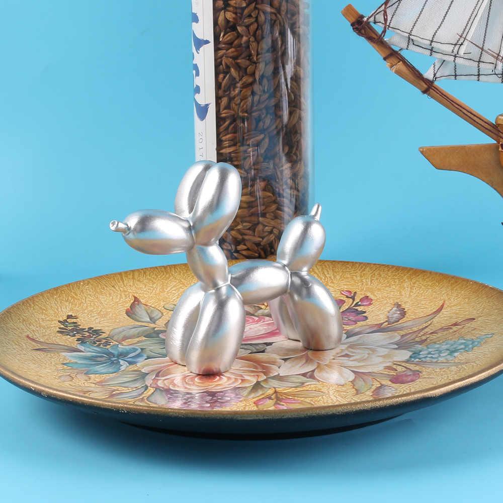 Mignon gâteau décoration ballon chien résine artisanat Sculpture cadeaux mode gâteau cuisson décorations fête Dessert bureau ornement
