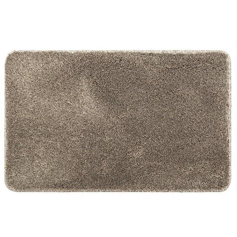 Solid Color Flocking Soft Yarn Bedroom Carpet Mats Home Door Bathroom Mat Door Absorbent Mats