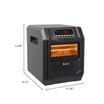 Space Heater 750W / 1500W 4-Element Infrared Large Room Heater 1