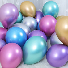 Metal Pearl Latex Balloons Happy Birthday Party DIY Decorations Thick Chrome Metallic Colors Inflatable Ballon 10pcs 12inch