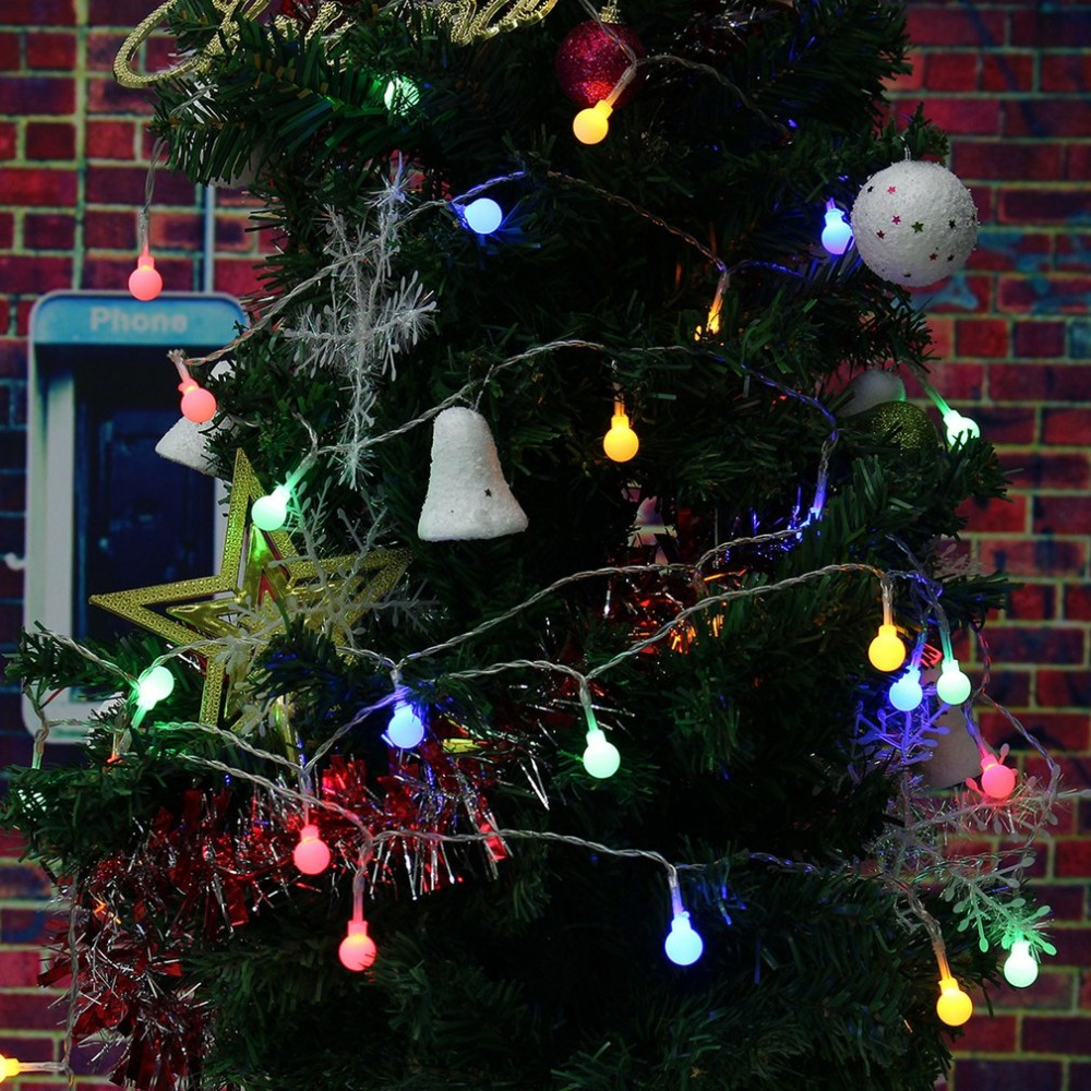 2M 20 Led Cherry Balls Fairy String Decorative Light Battery Operated Wedding Party Christmas Garland Decoration Light