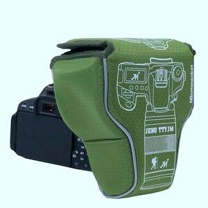 Image 4 - Triangle Waterproof Shockproof Camera Bag Lens Tube Micro Single Protective Case For Fuji XA3 Sony A7 A6500 Canon M5 Nikon D3500